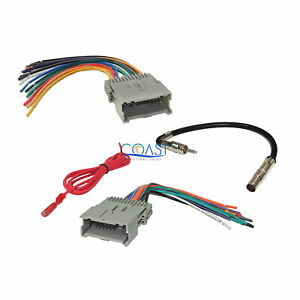 GM Car Radio Stereo Wiring Harness Antenna Combo for 1992-up Chevy GMC Pontiac