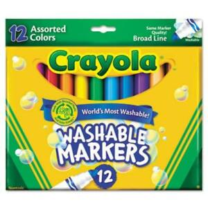 Details about Crayola Classic Washable Markers - Broad Marker Point Type -  Conical Marker