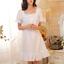 Retro-Womens-Pajama-Square-Neck-Short-Dress-Cotton-Lolita-Sleepwear-Nightgown thumbnail 5