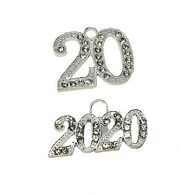 """2018 Graduation Tassel for Mortarboard Cap 9/"""" Silver Gold Drop Date Year Charm"""