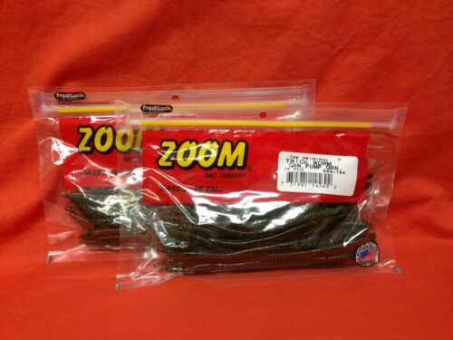 "2 PCKS #006-184 Green Pumpkin Green 20cnt ZOOM 6.5/"" Trick Worm"