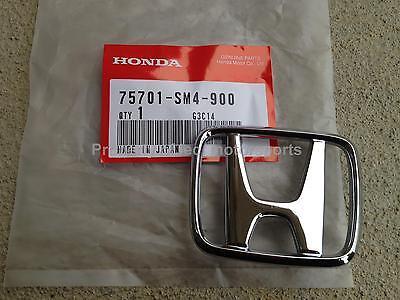 "OEM Honda 97-01 Prelude H22A Base or Type SH Front ""H"" Chrome Emblem Badge SM4"