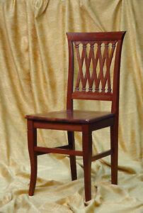 Sedie In Legno Arte Povera.Sedia In Legno Arte Povera Massello Ebay