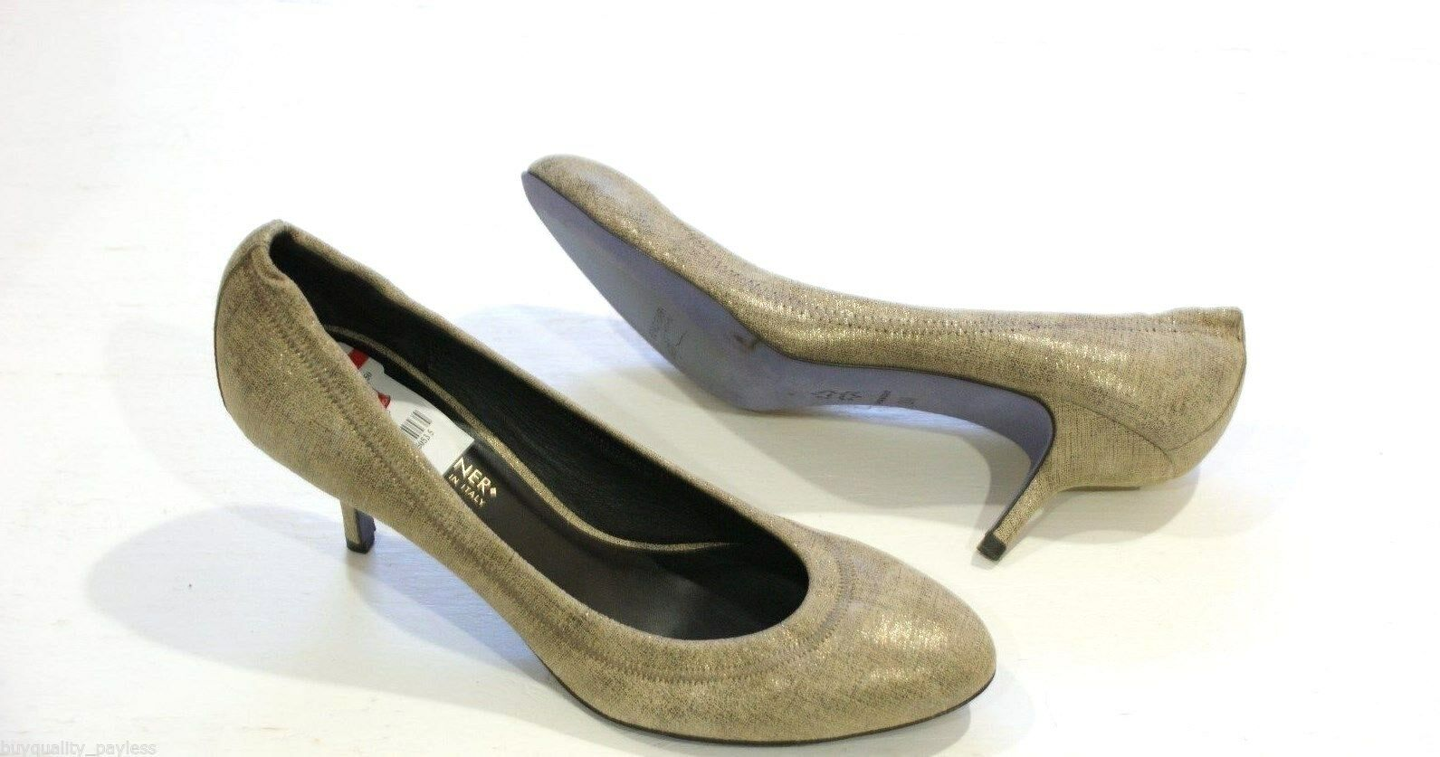 Donald J Pliner YYY Pewter Pump Heel shoes Womens 7.5  Made in