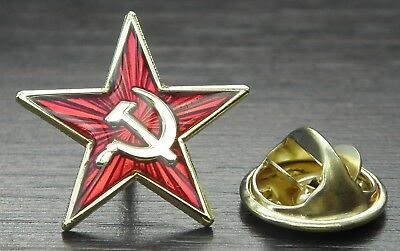 Small Star Hammer And Sickle Pin Badge
