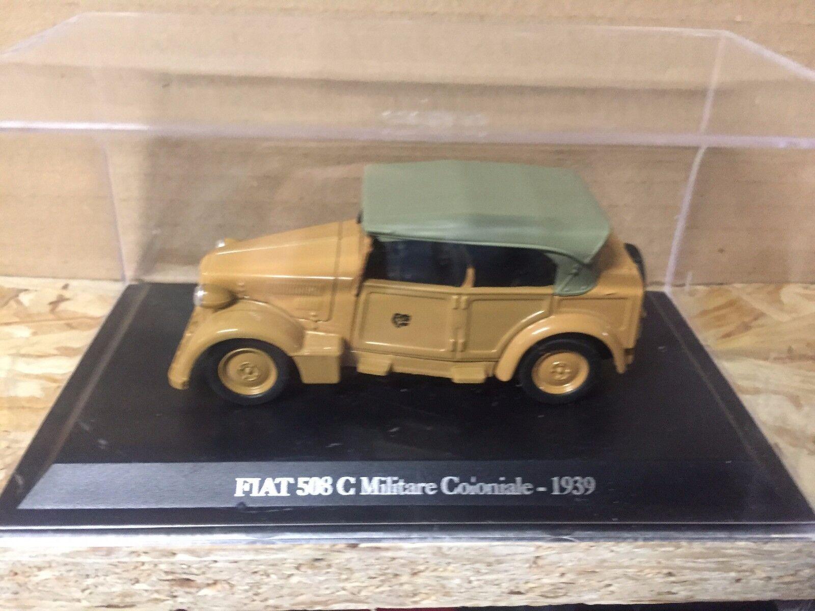 DIE CAST   FIAT 508 C C C MILITARE COLONIALE - 1939   + TECA RIGIDA BOX 2 SCALA 1 43 a1f8de