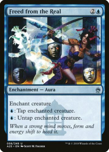 Freed from the Real Masters 25 NM-M Blue Uncommon MAGIC GATHERING CARD ABUGames