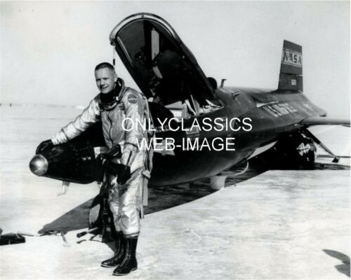 1962 ASTRONAUT NEIL ARMSTRONG NASA X-15 JET AIRPLANE PHOTO AVIATION OUTER SPACE