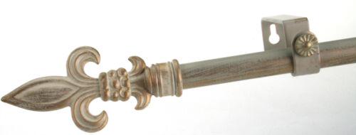 Gold ausziehbar 160-310 cm  Ø 16//13 mm Gardinenstange Weiss Creme