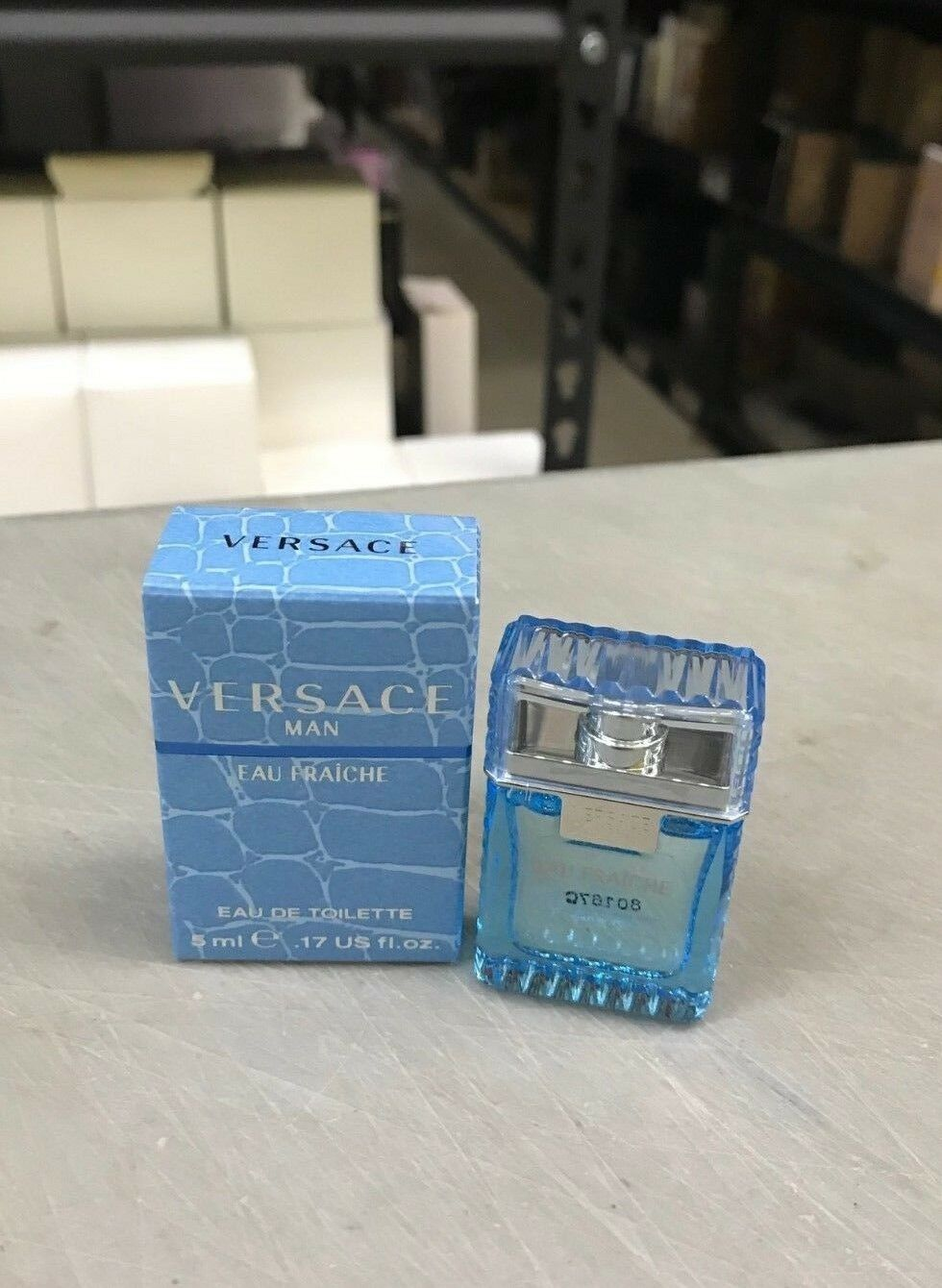 mini Versace Man Cologne Blue Men Perfume Eau Fraiche EDT 0.17 oz 5 ml
