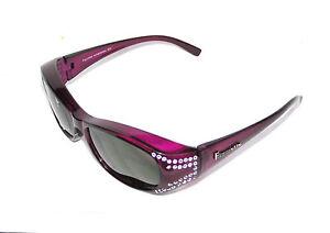Figuretta-Sonnen-Uberbrille-UV400-Polarisiert-lila-Strass-TV-Werbung