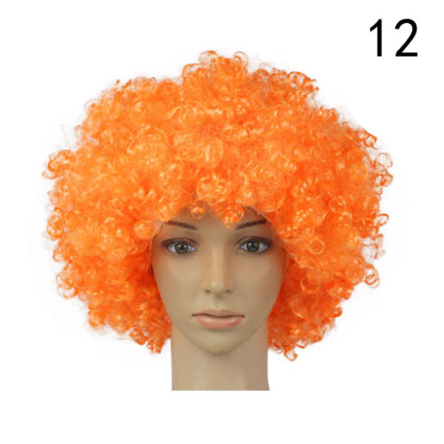80s CURLY AFRO WIG MULTI COLOUR PARTY CLOWN FUNKY DISCO KIDS CHILDS SELLING L1M9