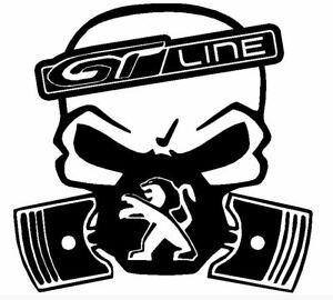 Calavera-PEUGEOT-208-308-GT-LINE-etc-Tuning-sticker-Fun-pegatinas-racing-12CM