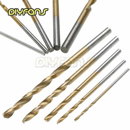 50 Stück Titanium HSS-Schnellarbeitsstahl-Spiralbohrerwerkzeug 1//1,5//2//2,5//3mm
