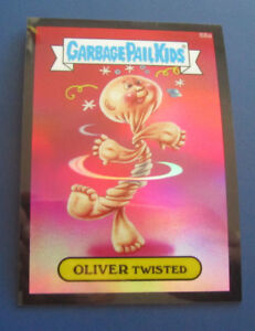 Details about 2014 GARBAGE PAIL KIDS GPK CHROME SERIES 2 BLACK REFRACTOR  #68A OLIVER TWISTED