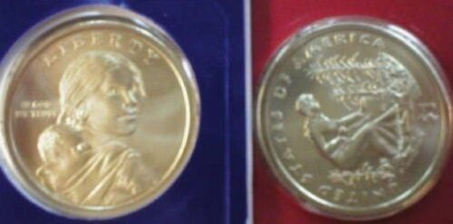 2009-P /& D SATIN FINISH ~~ SACAGAWEA DOLLARS ~~ MINT PLASTIC