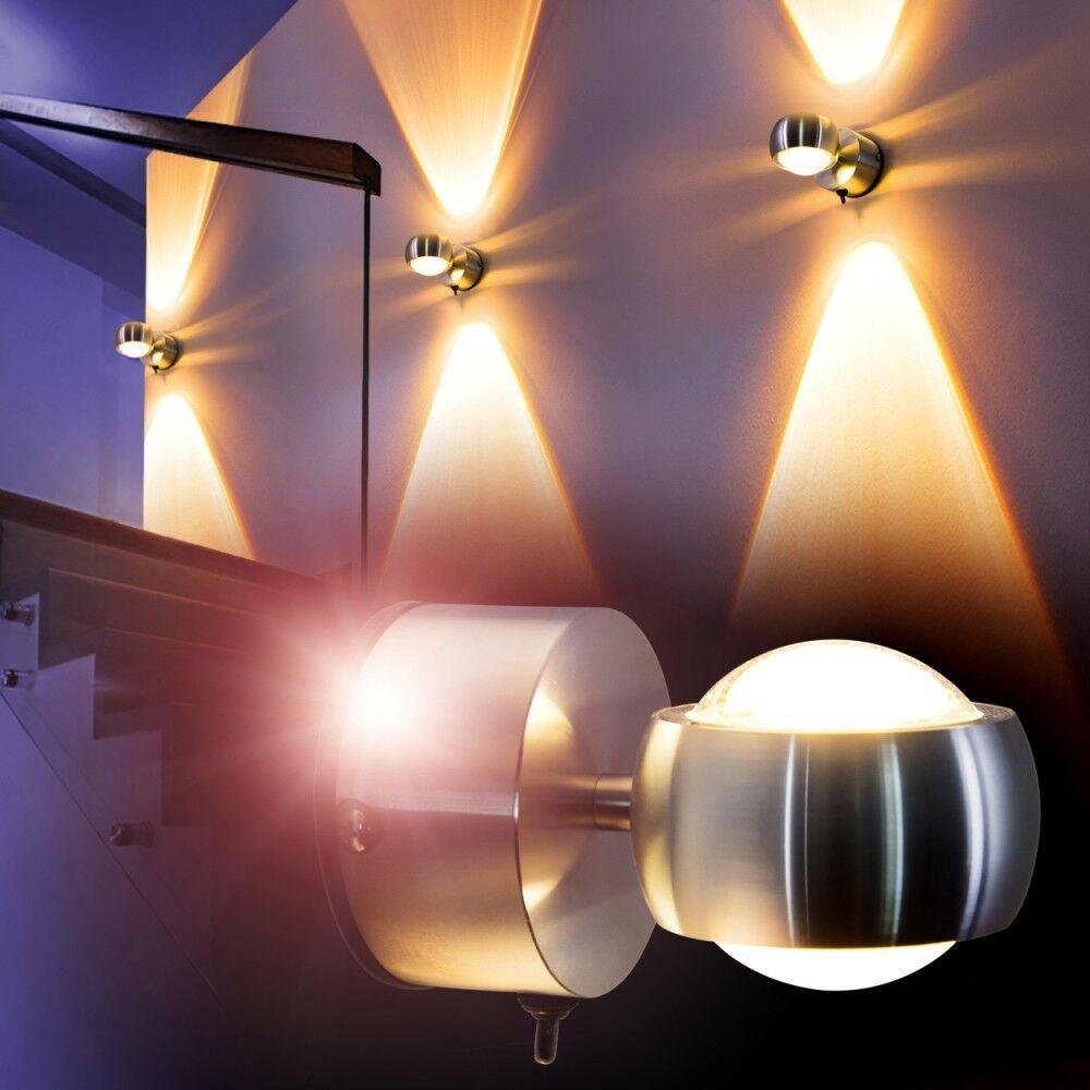 LED Design Leuchte Zimmer Wandleuchte Flurlampe Wandlampe Lampe mit Schalter