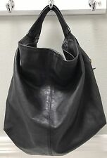 Furla Elisabeth Black Leather Hobo Medium Large Bag Handbag