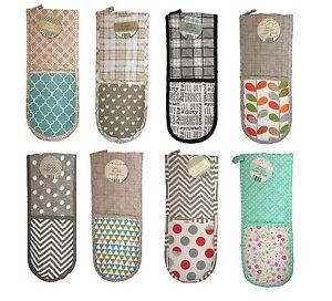 country club doppelte ofenhandschuhe isoliert kochen handschuhe handschuh ebay. Black Bedroom Furniture Sets. Home Design Ideas