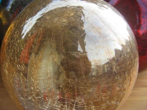 7 verschiedene Farben 15cm Leuchtkugel Glaskugel Lightball Antik Glas Kugel