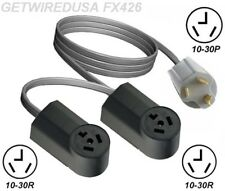 10-30P Y ADAPTER DUAL 10-30R 3-PIN RECEPTACLE SPLITTER 2 ADD A SECOND DRYER NEMA