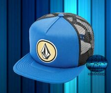 NEW Volcom Coast Cheese Bold Blue Snapback Trucker Cap Hat