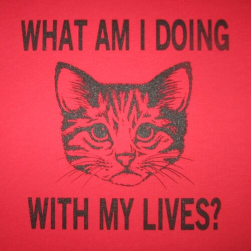 tank top what am i doing with my lives cat shirt t tee novelty cats funny cute