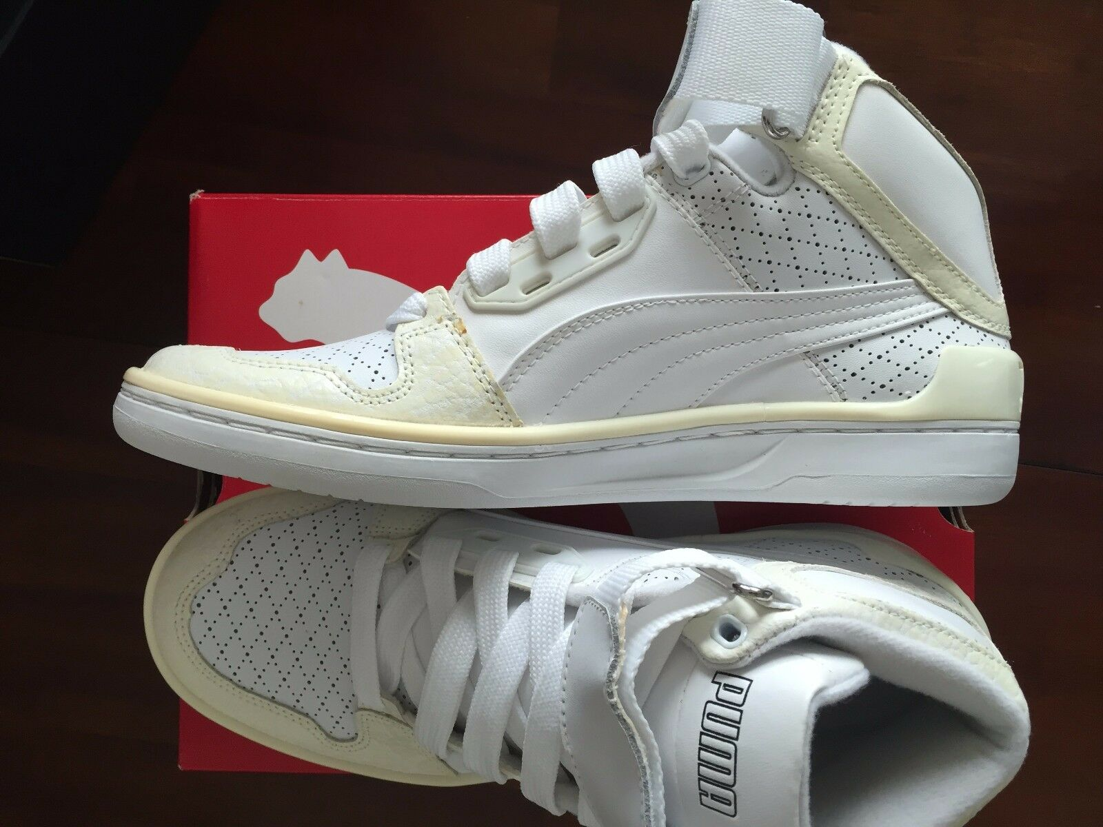 Puma  The Unlimited Hi Hi Hi Evo Lux  White Sneakers ( 8.5)  125 06a457