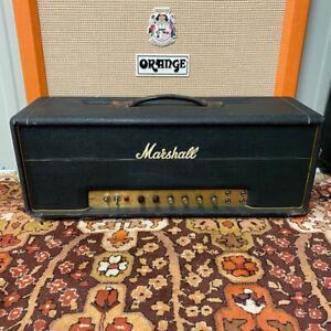 Vintage 1970 Marshall Super Lead 100w JMP Brimar Valve Amplifier Head w/ Cover