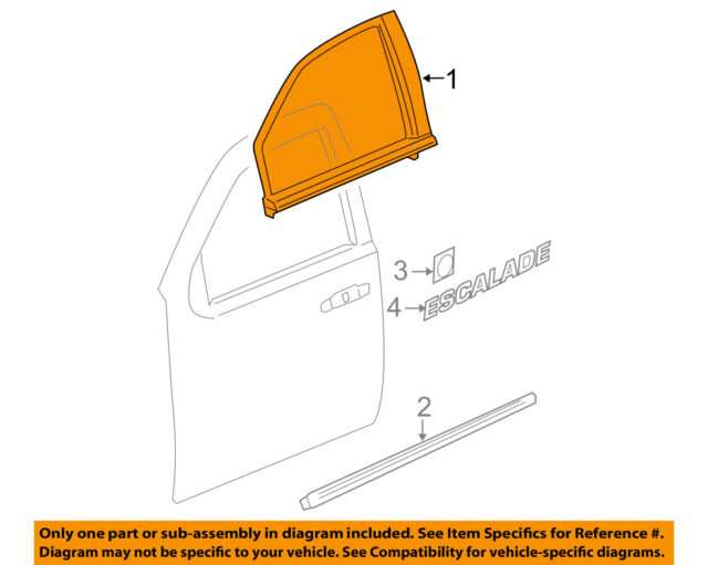 innova3.com Cadillac GM OEM 07-14 Escalade FRONT DOOR-Body Side ...