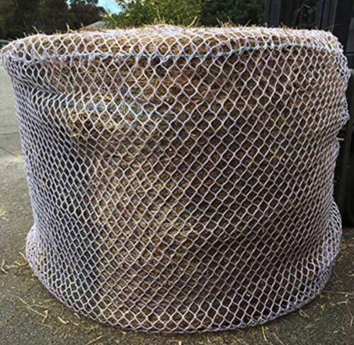 FREE TRAILER BAG HEAVYDUTY KNOTLESS 5mm THICK 6x6 Round Bale Slow Feed Hay Net
