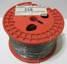 25 G Gauge 5 Pound Spool Roll - Book Binding Stitching Galvanized Wire - New