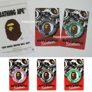 A-BATHING-APE-Goods-BUSY-WORKS-KARABINAER-Key-Ring-3colors-Japan-New