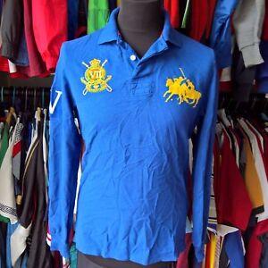 Size Adult About M Blue Custom Iv Shirt Lauren Royal Polo Ls Details Fit Jersey Ralph Tc1J53uFKl