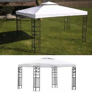 10x13-ft-White-Garden-Outdoor-Steel-Frame-Gazebo-BBQ-Picnic-Canopy-Party-Tent