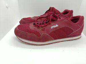 Fila Mens burgundy Trainers. Size 11   eBay