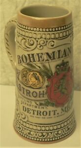 BOHEMIAN-BEER-Stroh-039-s-Brewing-Co-Heritage-IV-Collector-039-s-Ceramic-STEIN