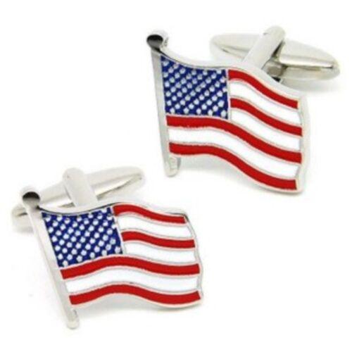 United States of America Flag Stars and Stripes USA Cufflinks