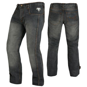 Biker-Jeans-Pants-Trousers-CE-Armored-Cruising-Motorcycle-Motorbike-Black