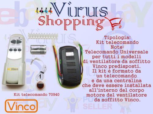 Kit telecomando Universale completo per Ventilatori Vinco Modello 70940 PROMO