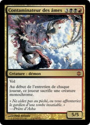 Defiler of Souls MTG Reborn *MRM* FR contaminateur des ames