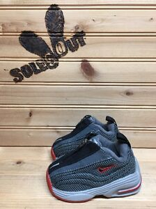 2001-OG-Nike-Shox-R4-sz-2c-Black-Red-Zipper-Baby-Toddler-Shoes