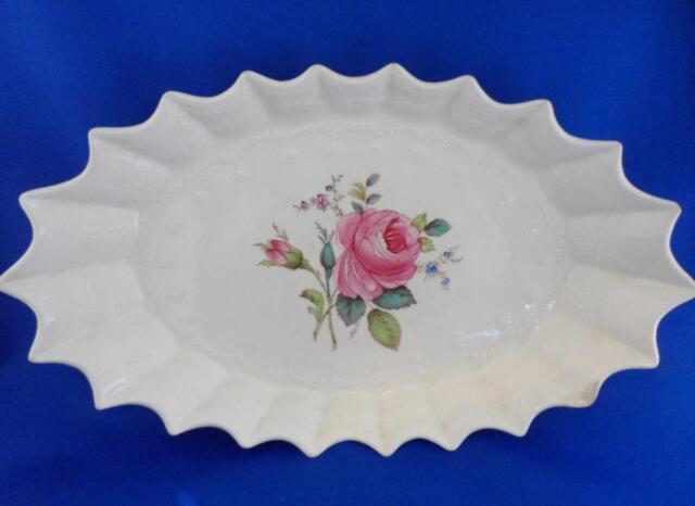 """*JUBILEE DISH* Spode Billingsley Rose Pink Old Backstamp 192611"""" L. Rare Piece"""