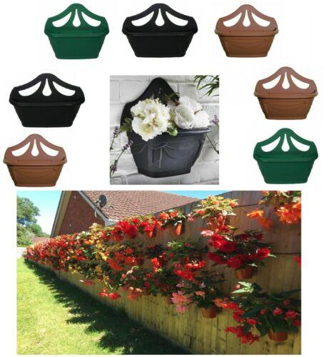 Fence Wall Planter Plant Flower Basket Pot Container Venetian Garden Box Plastic