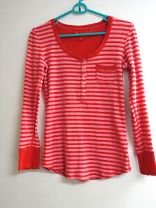 recognized brands best price 50% price Details about Victoria's Secret red and pink striped top Size Medium