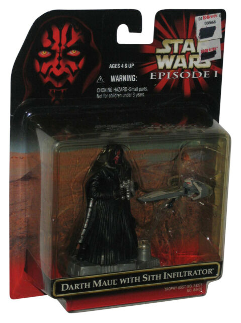 Star Wars Episode I Darth Maul w/ Sith Infiltrator Figure Toy Set
