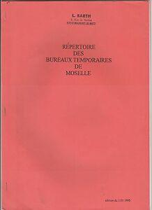 1995 Repertoire Des Bureaux Temporaires De Moselle