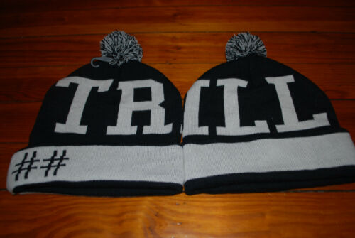 "NEW Been Trill #BEENTRILL MallRatz /""Giant Trill/"" Striped Skull Beanie Hat"