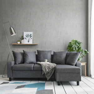 Image Is Loading Corner Sofa Left Amp Right Hand Side Grey
