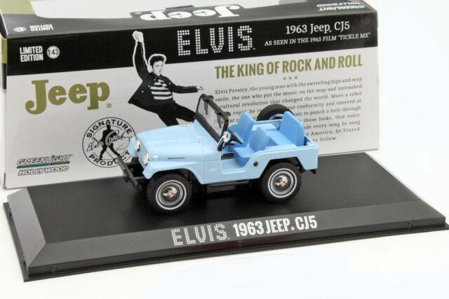 Jeep CJ5 Año Fabricación 1963 Elvis Azul 1:43 Greenlight